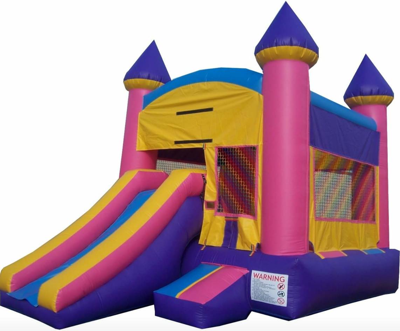 Pink & Purple Bounce Castle w/ Slide