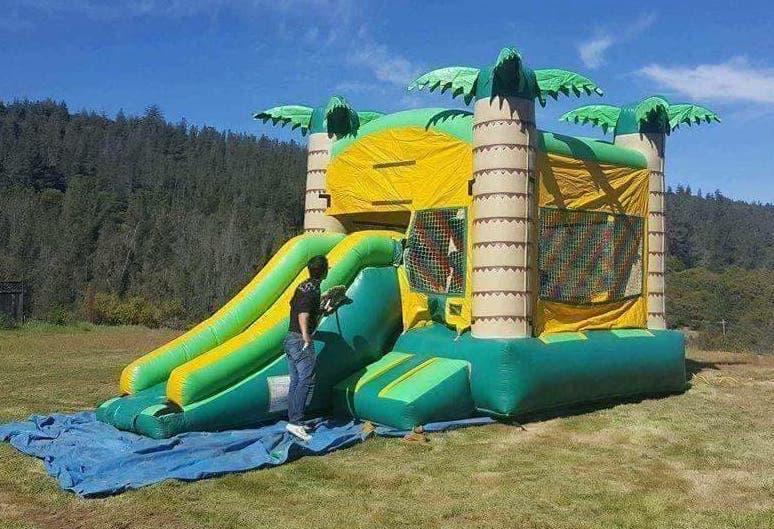 Palm Tree Bounce House w/ Slide